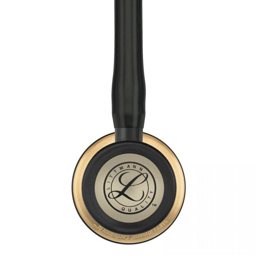 Stetoskop 3M™ Littmann® Cardiology IV™ Brass-Finish (głowica w kolorze mosiądzu, czarna lira i przewód)