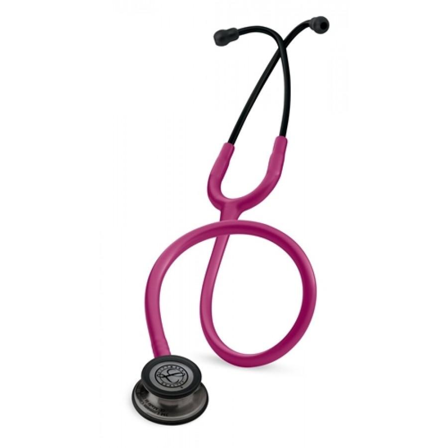 Stetoskop 3M™ Littmann® Classic III™, SMOKE (ciemnoszara, matowa lira i głowica), Malinowy