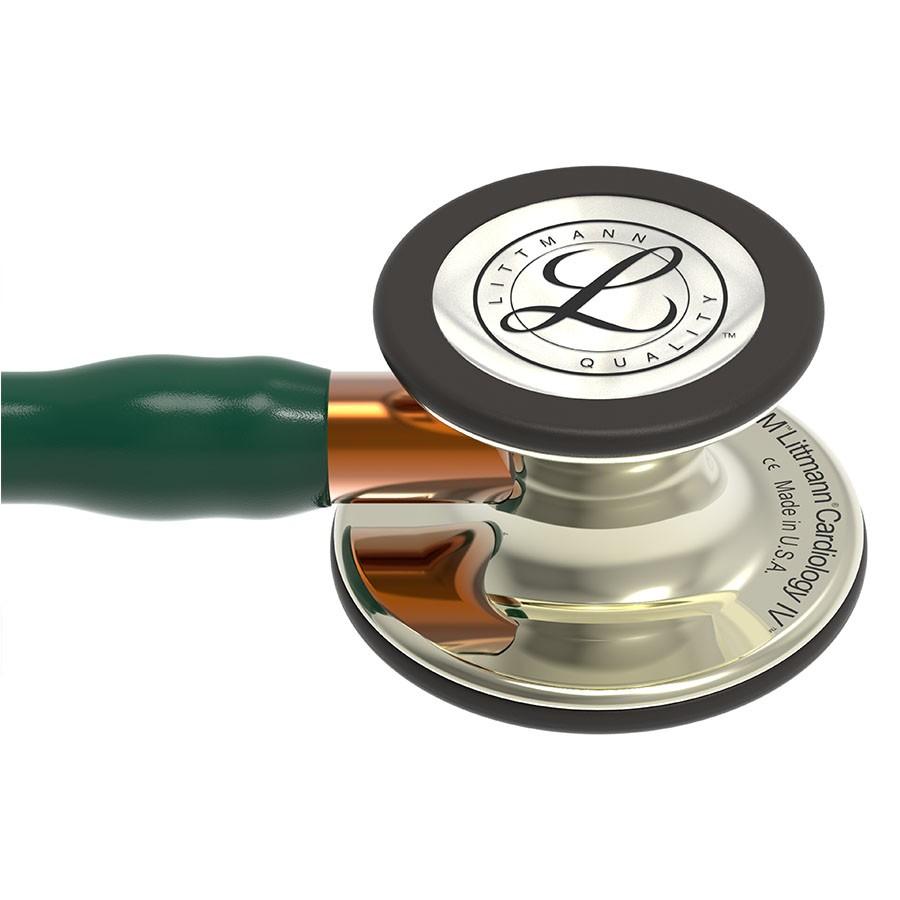 Stetoskop 3M™ Littmann® Cardiology IV™ Champagne-Finish, przewód ciemnosielony, lira szampańska, trzonek pomarańczowy + Oryginalne Etui 3M™