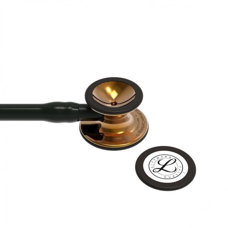 Stetoskop 3M™ Littmann® Cardiology IV™ High Polish Copper, kolekcja limitowana, czarny przewód, 6180 + Oryginalne Etui 3M™