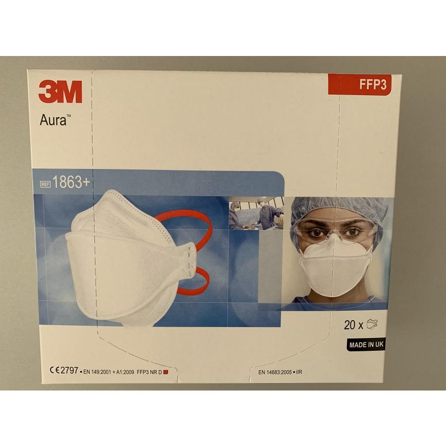 3M™ Aura™ 1863+ Półmaska filtrująca dla służb medycznych