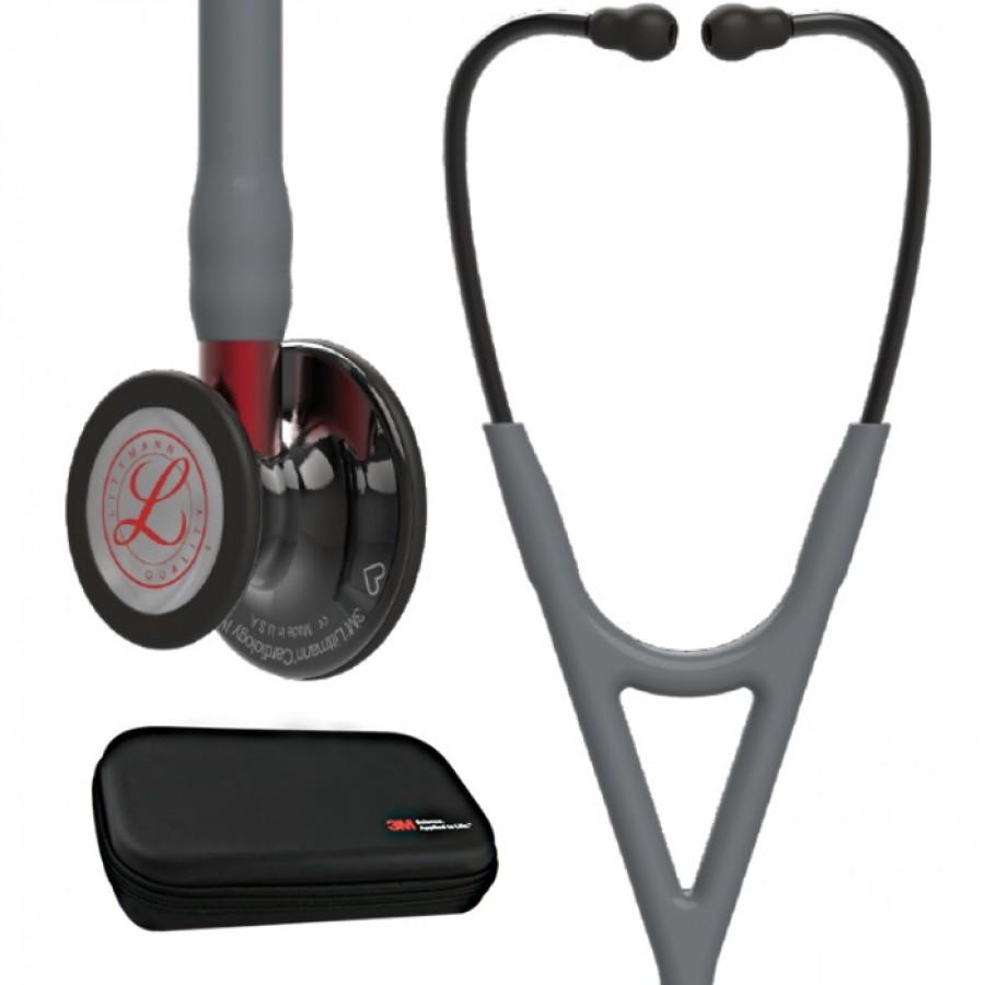 3M™ Littmann® Cardiology IV™ stetoskop, przewód szary, kolekcja limitowana + Oryginalne Etui 3M™