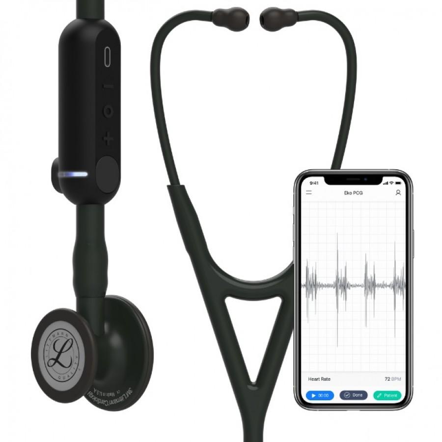 Stetoskop 3M™ Littmann® CORE Digital (EU) Stetoskop cyfrowy, czarna głowica, czarny przewód, trzonek i lira, 69 cm, 8490