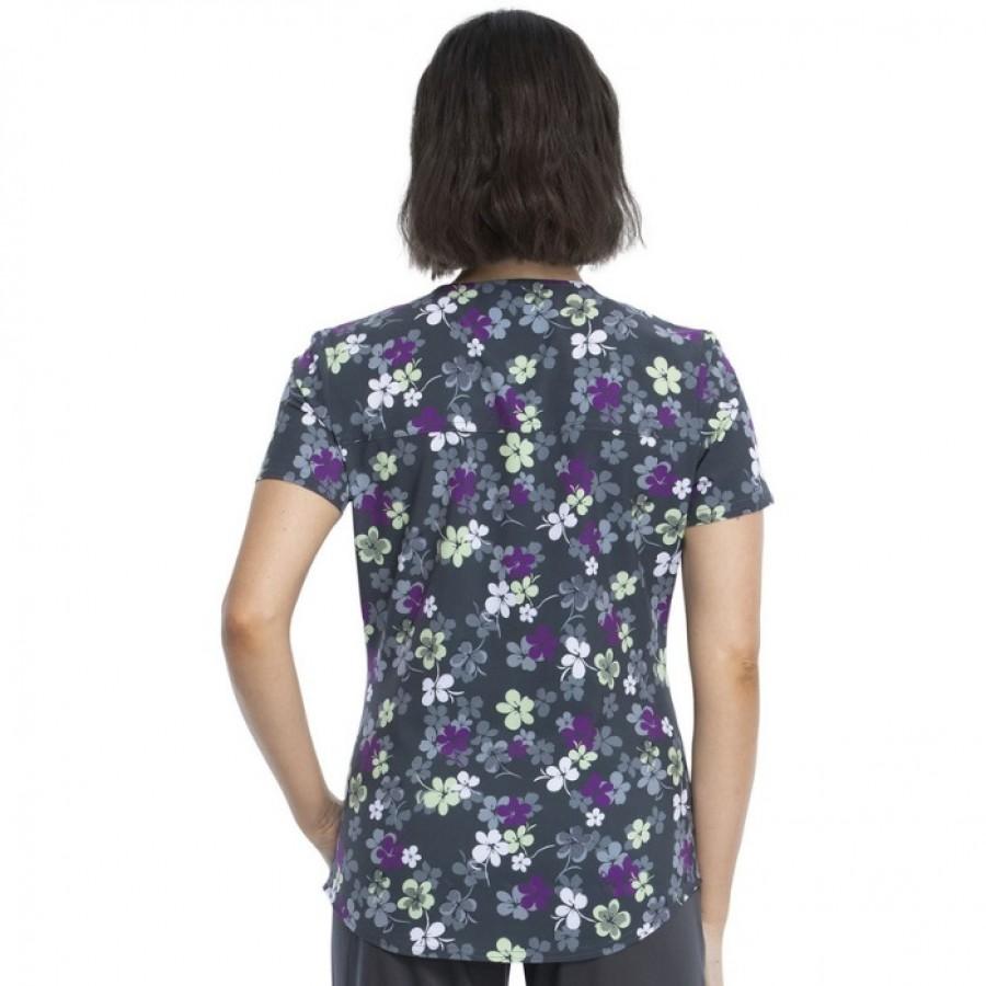 Bluza medyczna damska o wzorze LVLY