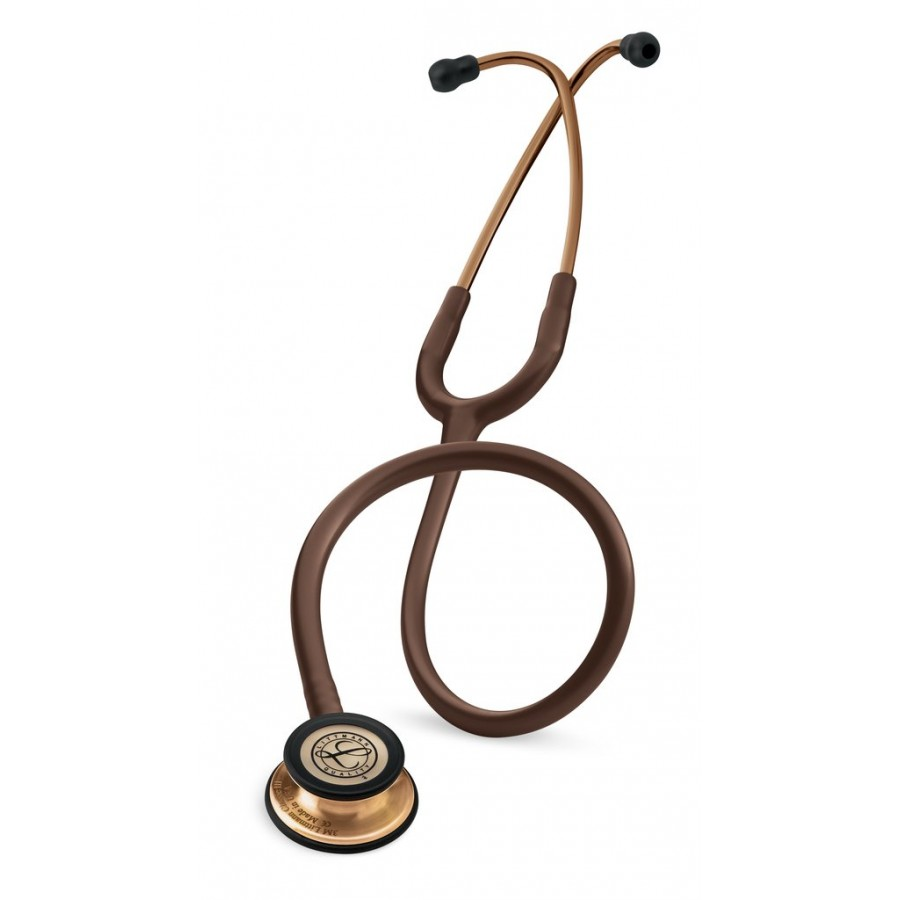 Stetoskop 3M™ Littmann® Classic III™, głowica z miedzianym wykończeniem, przewód w kolorze brązowym