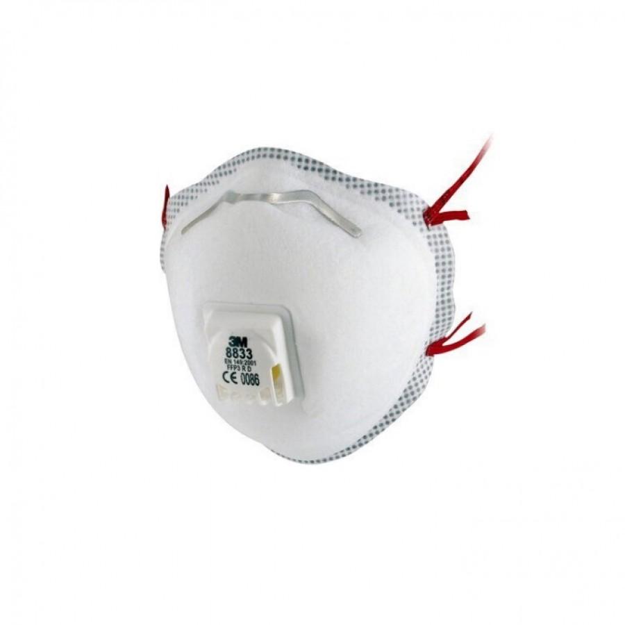 3M™ 8833 Półmaska filtrująca z zaworkiem FFP3 - 10 sztuk