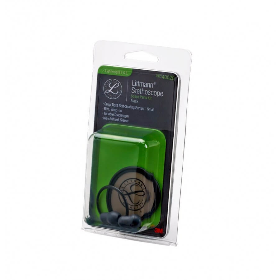 3M™ Littmann® Stetoskop, zestaw naprawczy, Lightweight II S.E. - Black