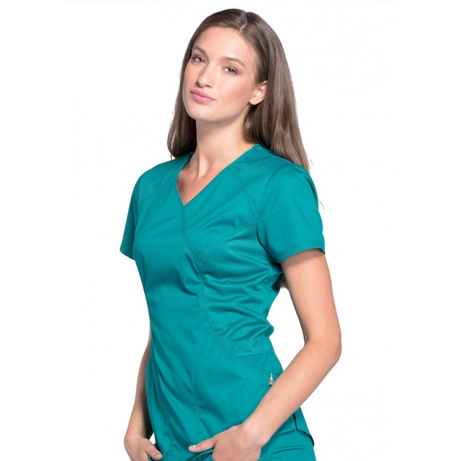 Cherokee - Bluza Medyczna Luxe Sport Teal Blue