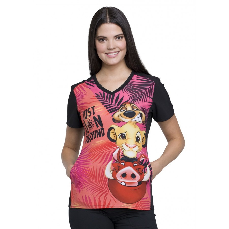 Cherokee - Bluza Medyczna Tooniforms Lion Around