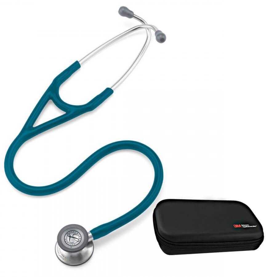 Stetoskop 3M™ Littmann® Cardiology IV™ - Błękit karaibski + Oryginalne Etui 3M™
