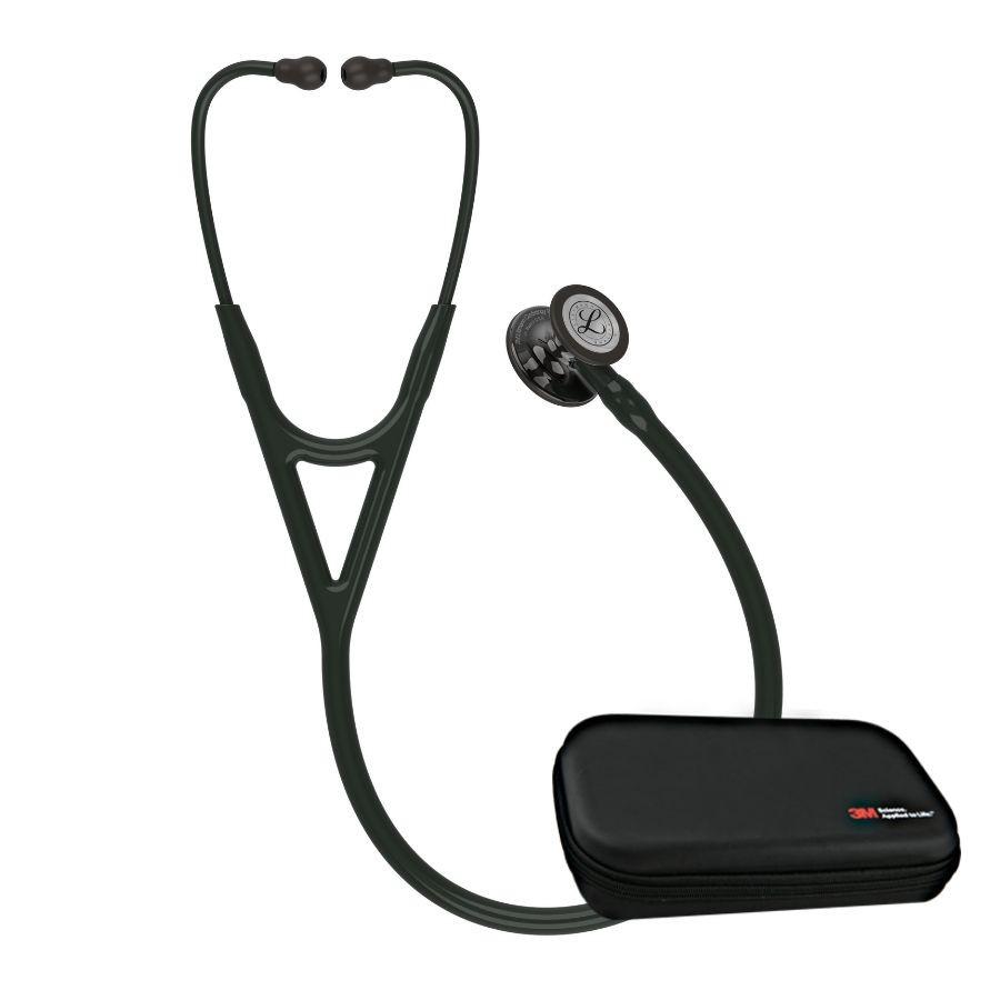 Stetoskop 3M™ Littmann® Cardiology IV™ , High Polish Smoke-Finish, przewód czarny, trzonek czarny i lira czarna, 6232 + Oryginalne Etui 3M™
