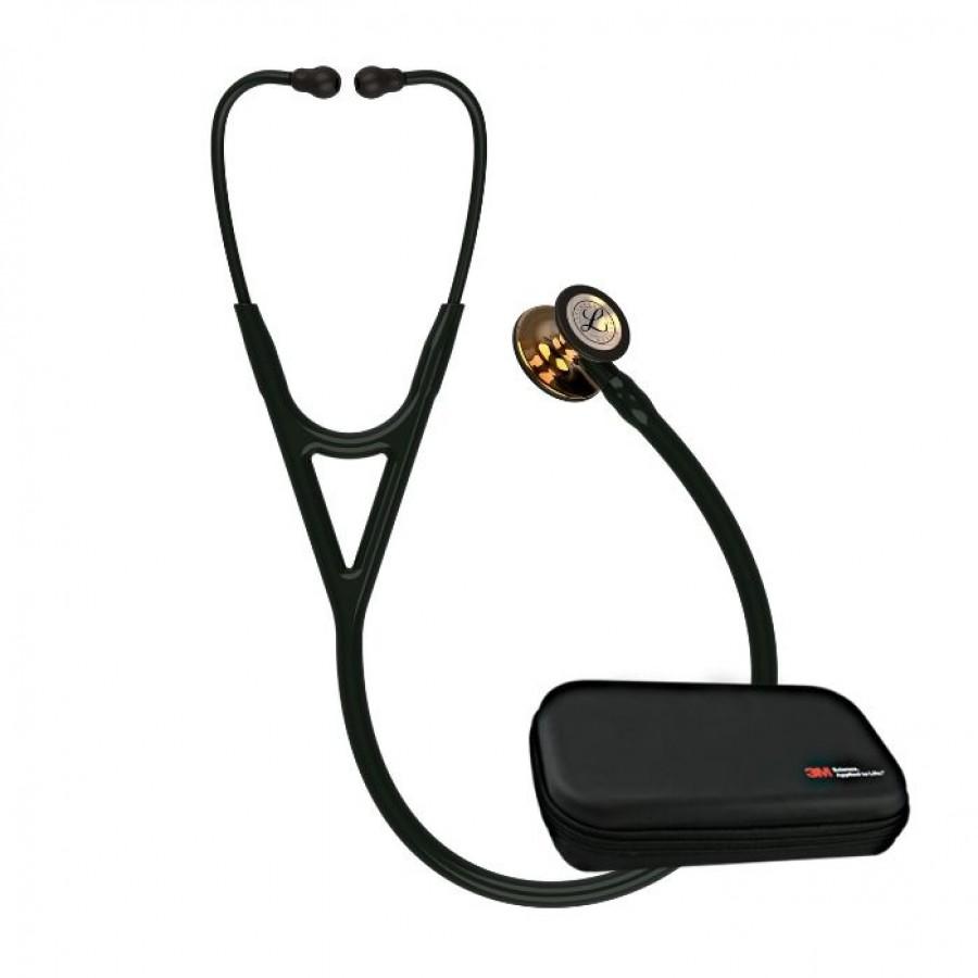 Stetoskop 3M™ Littmann® Cardiology IV™ High Polish Copper, kolekcja limitowana, czarny przewód + Oryginalne Etui 3M™