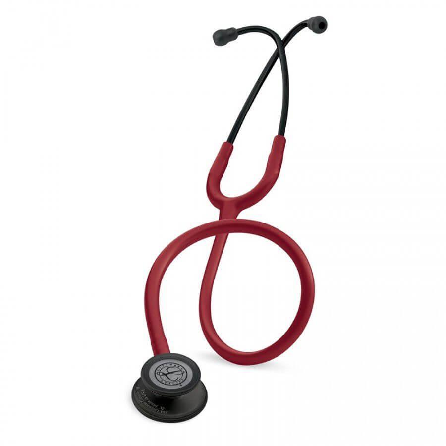 Stetoskop 3M™ Littmann® Classic III™, BLACK EDITION ( czarna lira i głowica), Burgundowy