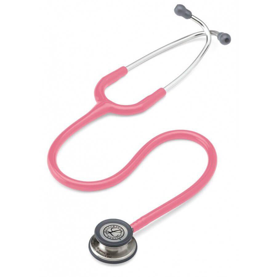 Stetoskop 3M™ Littmann® Classic III™, głowica ze standardowym wykończeniem, przewód w kolorze perłowy różowy