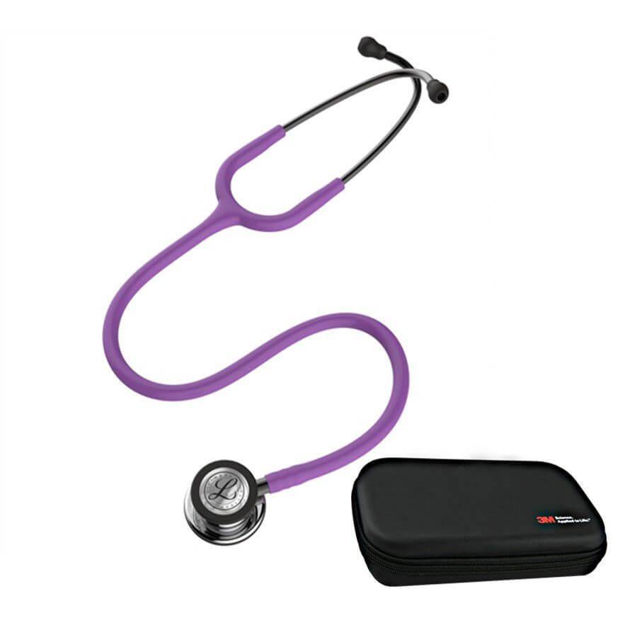 Stetoskop 3M™ Littmann® Classic III™ - Mirror Finish Lawendowy + Oryginalne Etui 3M™