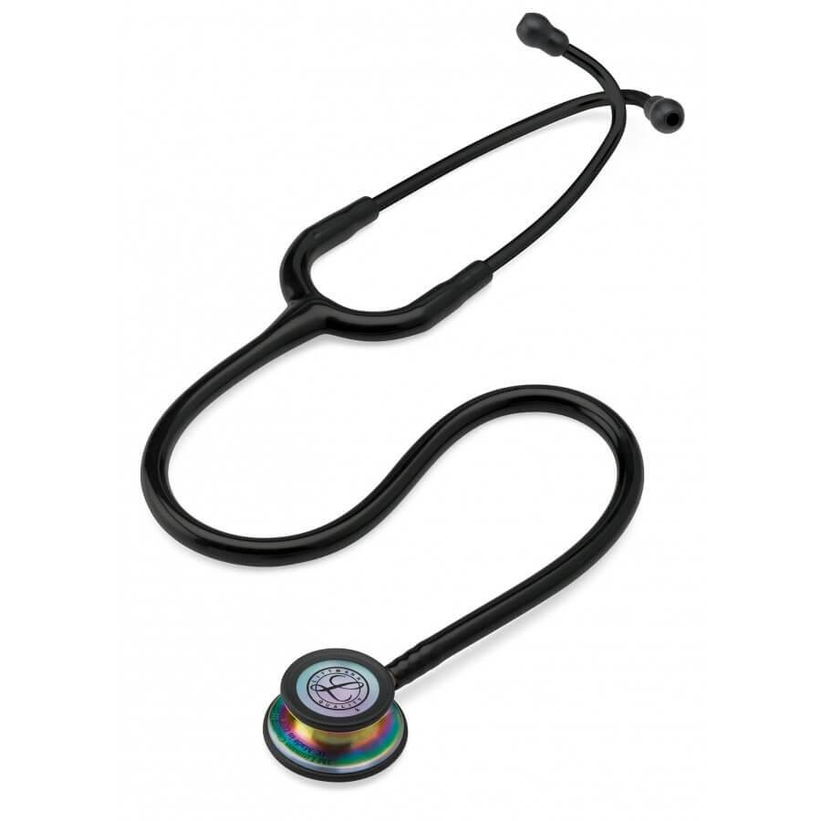 Stetoskop 3M™ Littmann® Classic III™, RAINBOW EDITION (tęczowa lira i głowica), Czarny
