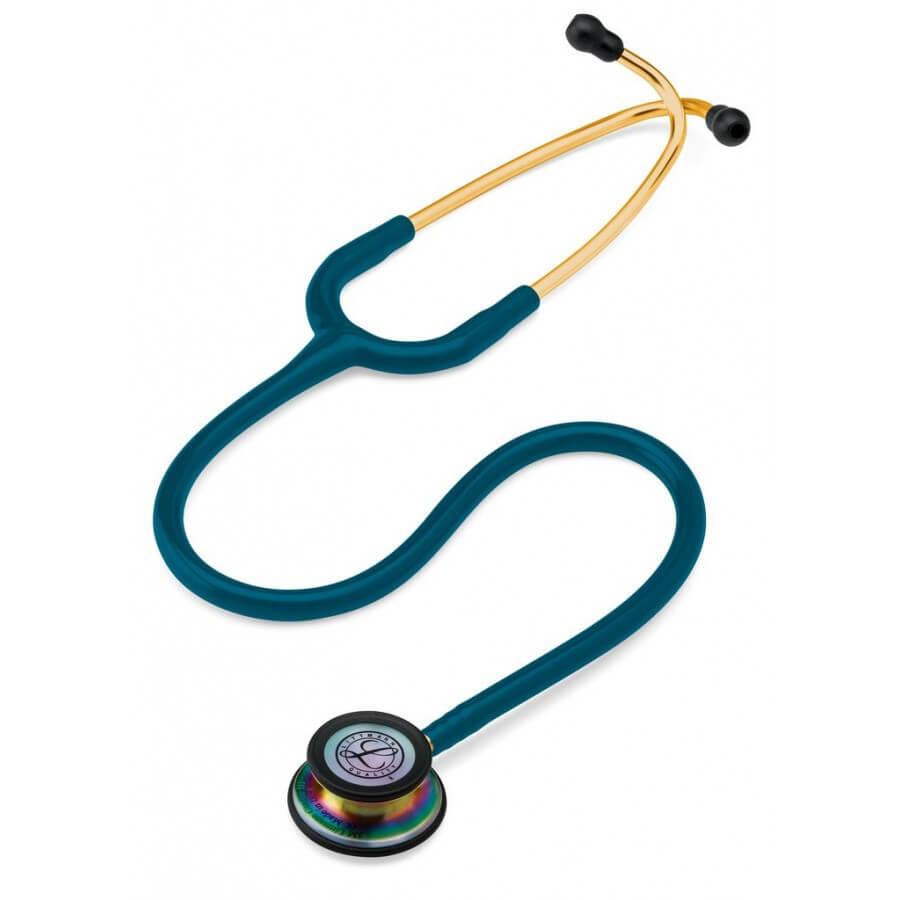 Stetoskop 3M™ Littmann® Classic III™, RAINBOW EDITION (tęczowa lira i głowica + przewód błękit karaibski)