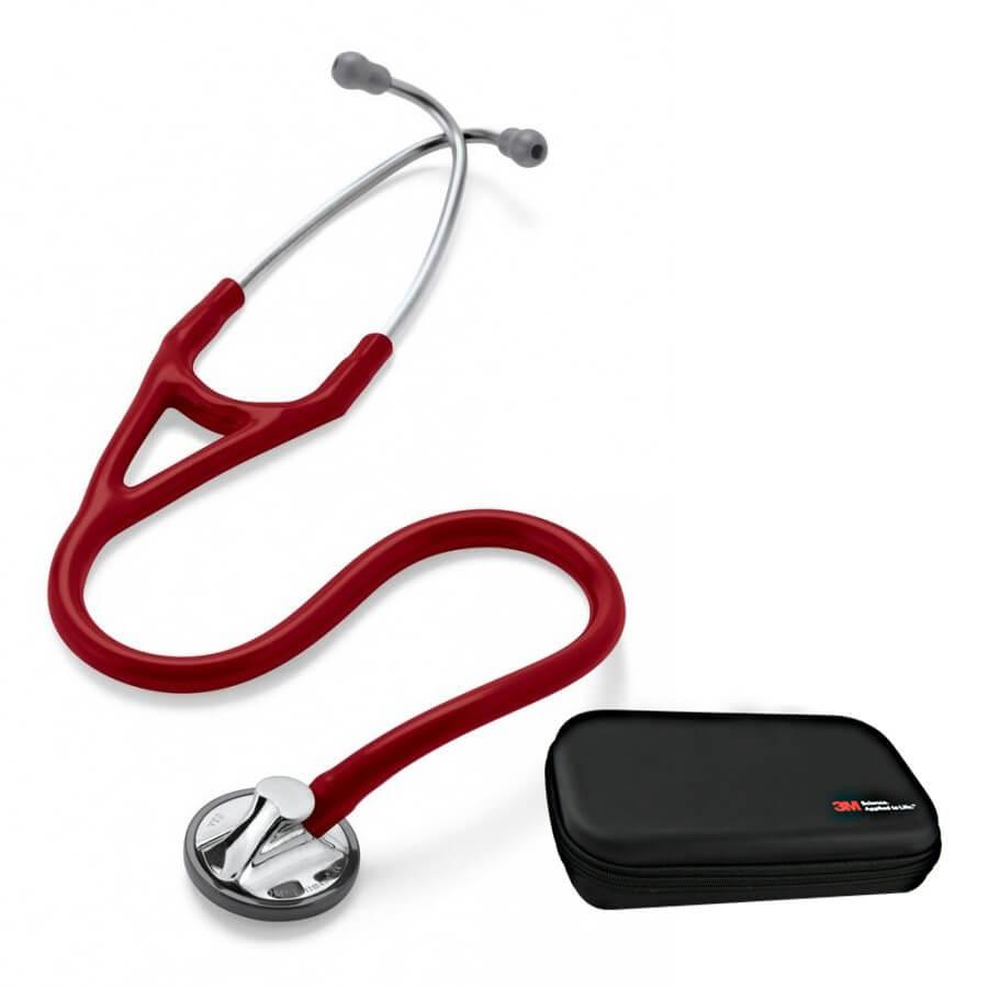 Stetoskop 3M™ Littmann® Master Cardiology - burgund + Oryginalne Etui 3M™