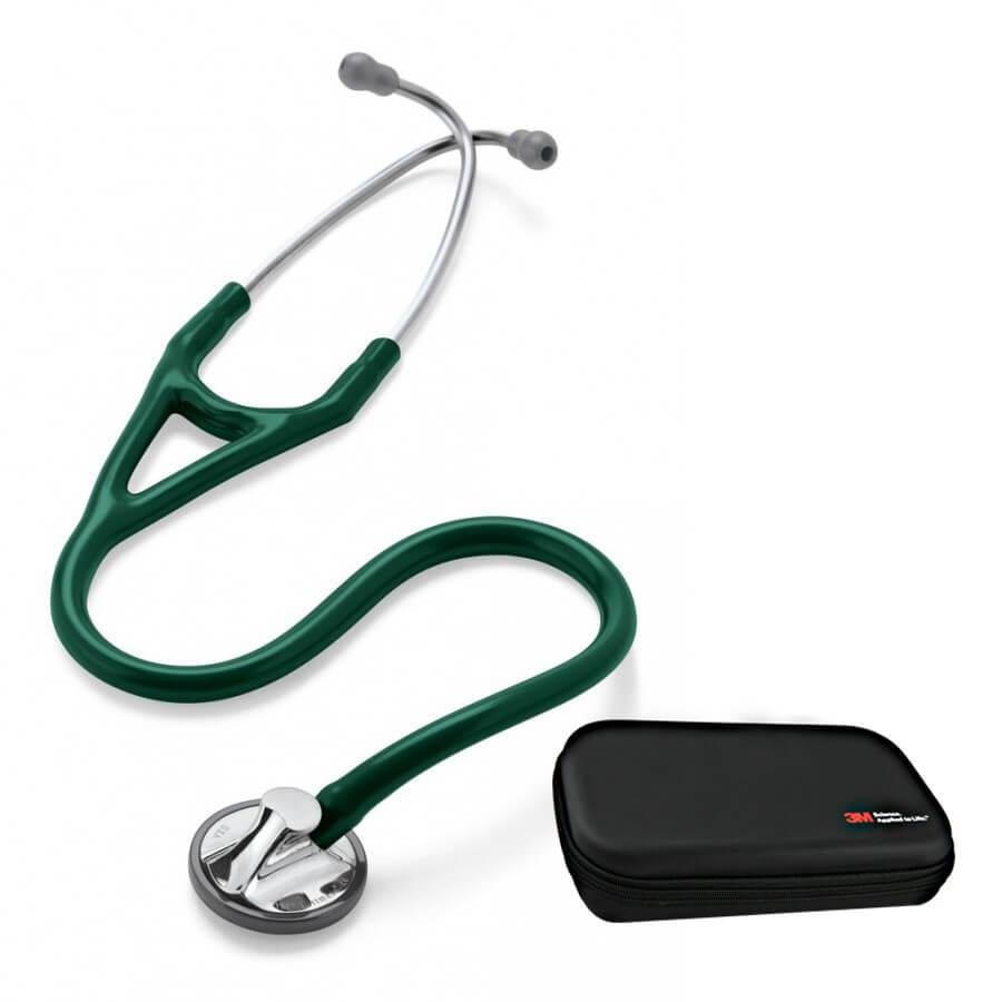 Stetoskop 3M™ Littmann® Master Cardiology - ciemnozielony + Oryginalne Etui 3M™
